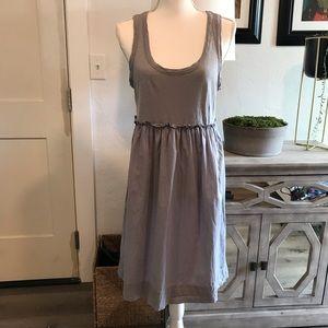 J. Crew gray cotton sleeveless sundress size med